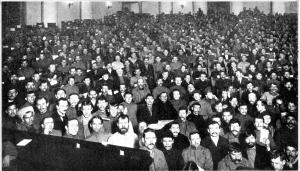 Το Τρίτο Πανρωσικό Συνέδριο των Σοβιέτ, τον Ιανουάριο του 1918.